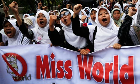 Miss World protest in Jakarta