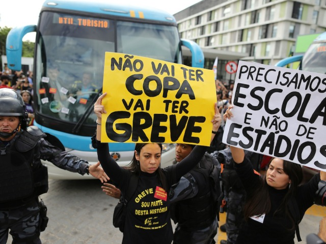 APTOPIX Brazil WCup Soccer Protest