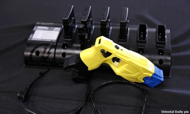 Launching of Coach Training System TEA ( Taser Electro Shock Gun, Evidence .com & Axon Body Camera at Pulapol Kuala Lumpur on August 24,2015. Luqman