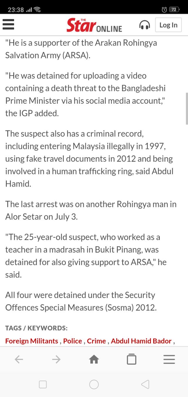 Malaysia and its endless war against Terrorism…   weehingthong